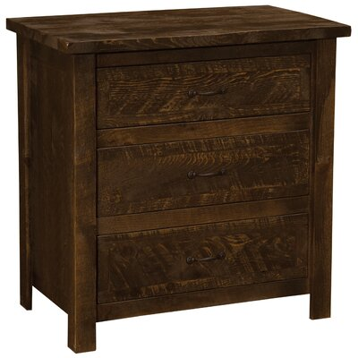 Frontier 3 Drawer Chest Finish: Barn Brown