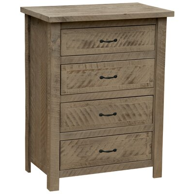 Premium Frontier 4 Drawer Chest Color: Barn Brown