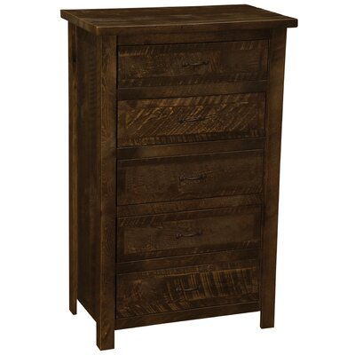 Premium Frontier 5 Drawer Lingerie Chest Finish: Barn Brown