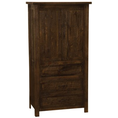 Premium Frontier Armoire Color: Barn Brown