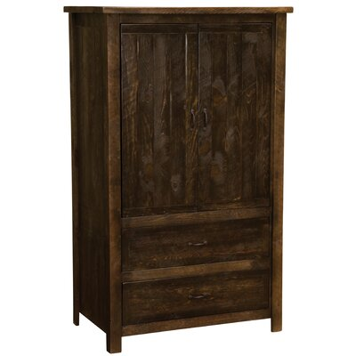 Premium Frontier Armoire Color: Cottonwood