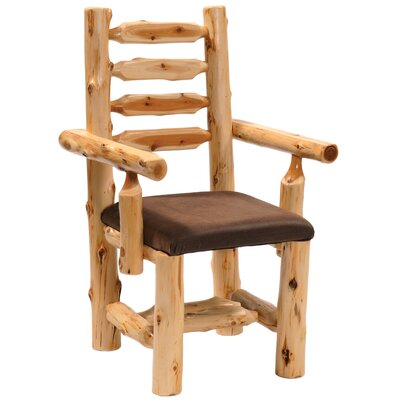 Cedar Upholstered Dining Chair Color: Alligator