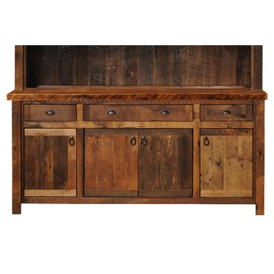 Barnwood Sideboard with Hickory Legs Color: Atisan