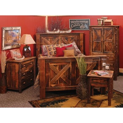 Reclaimed Barnwood Platform Configurable Bedroom Set