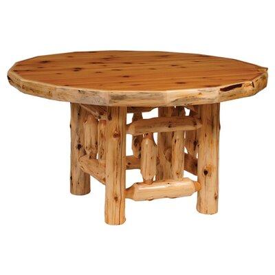 Fireside lodge traditional cedar log 5 piece round dining for Traditional round dining table sets