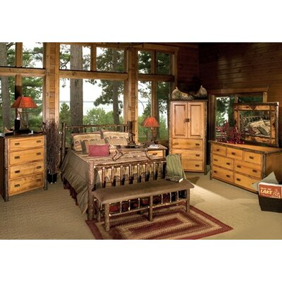 Hickory Panel Customizable Bedroom Set