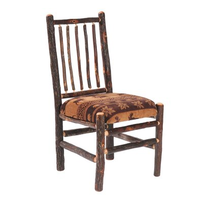 Low Price Fireside Lodge Hickory Spoke Back Side Chair (Set of 2) Upholstery: SOHO