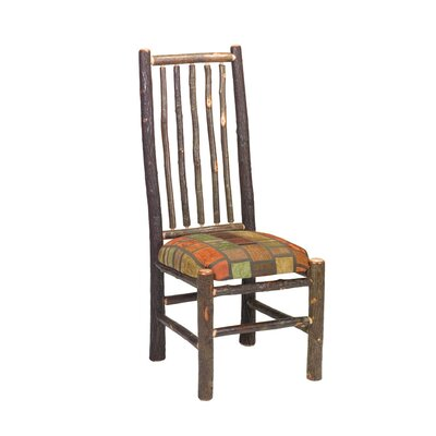 Low Price Fireside Lodge Hickory High Spoke Back Side Chair (Set of 2) Upholstery: Yosemite Natural