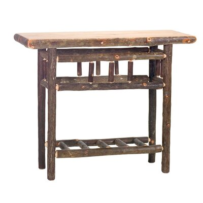 Hickory Open Console Table Finish: Rustic Alder