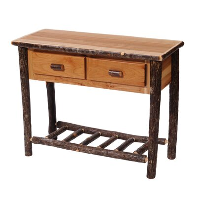 Hickory Two Drawer Console Table Finish: Traditional
