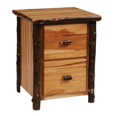Hickory Drawer File Cabinet Rustic picture