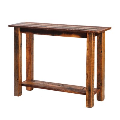 Cheap Fireside Lodge Reclaimed Barnwood Open Sofa Table with Shelf (FDL1155)