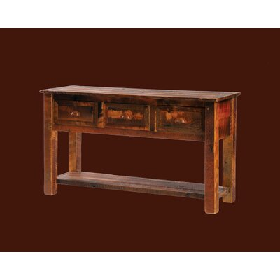 Cheap Fireside Lodge Reclaimed Barnwood Console Table with Three Drawers (FDL1156)