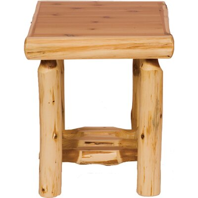Cheap Fireside Lodge Traditional Cedar Log End Table in Traditional Features: Enclosed (FDL1211_3622324)