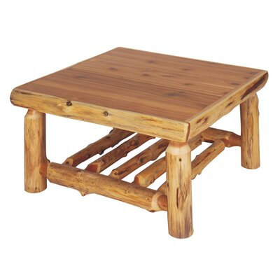 Traditional Cedar Log Coffee Table Color / Size: Standard / 34 x 34
