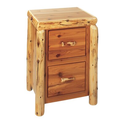 Traditional Cedar Log 2-Drawer File Cabinet Product Picture 730