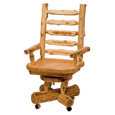 Traditional Cedar Log High-Back Wood Executive Chair Product Picture 730