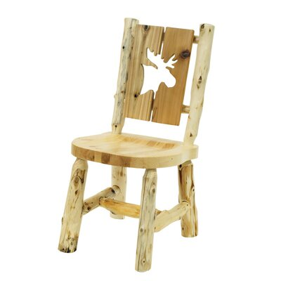 Traditional Cedar Log Cut Out Solid Wood Dining Chair Cut-Out Shape: Moose
