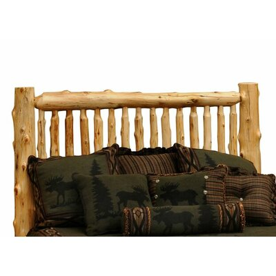 Traditional Cedar Log Slat Headboard Size: King, Spindle: Traditional Cedar
