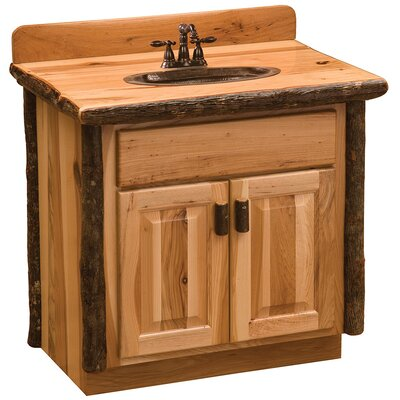 Hickory 30 Bathroom Vanity Base Base Finish: Espresso / With top, Sink center