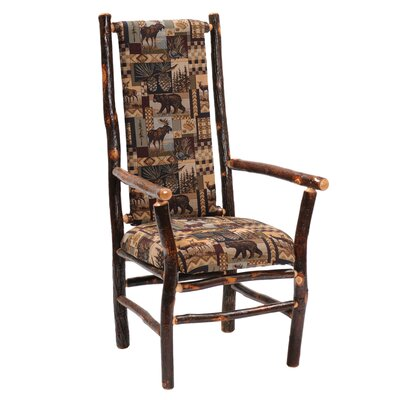 Upholstered Chairs on Fireside Lodge Hickory Armchair   86080   86081