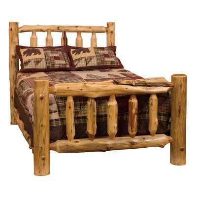 Traditional Cedar Log Slat Headboard Size: King, Color: Vintage Finish