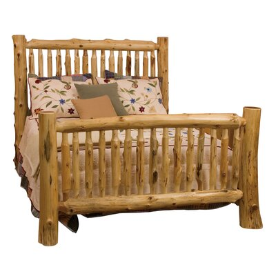 Traditional Cedar Log Slat Bed Size: California King, Finish: Traditional