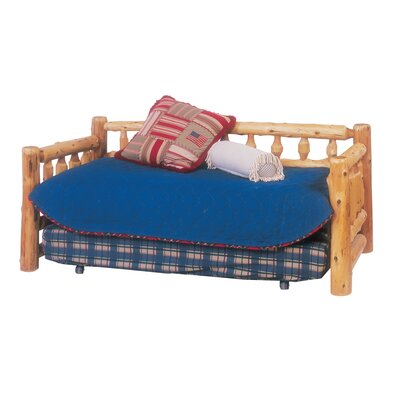 Traditional Cedar Log Daybed Accessories: Trundle, Finish: Vintage Finish