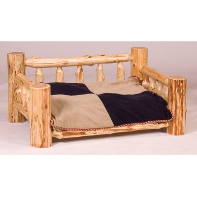 Traditional Cedar Log Dog Bed with Standard Mattress Color: Vintage Finish