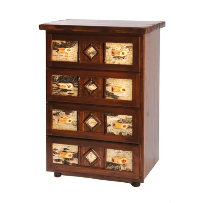 Furniture leasing Adirondack 4 Drawer Chest Type: Pre...