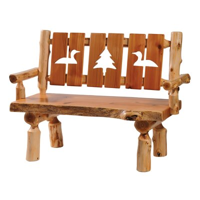 Traditional Cedar Log Bench Size: 48