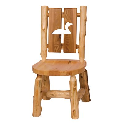 Traditional Cedar Log Cut Out Solid Wood Dining Chair Cut-Out Shape: Loon