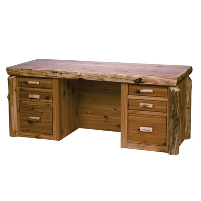 Valuable Cedar Log Drawers Executive Desk Product Photo