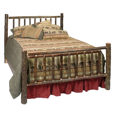Hickory Panel Bed Size: California King, Color: Rustic Maple