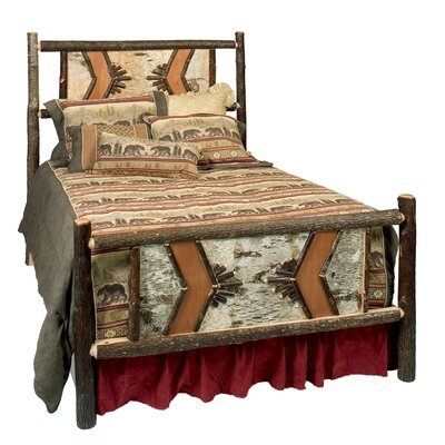 Hickory Adirondack Panel Bed Size: Twin, Color: Rustic Alder