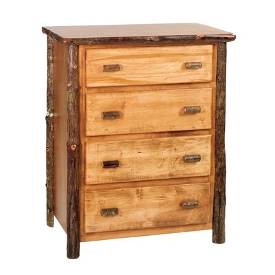 Credit for Hickory 4 Drawer Chest Finish: Rust...