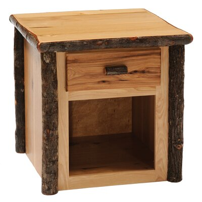 Cheap Fireside Lodge Hickory One Drawer End Table Finish: Traditional (FDL1876_6329000)
