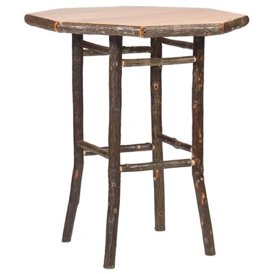 Hickory Pub Table Color: Rustic Alder with Standard, Tabletop Size: 36