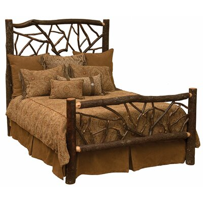 Platform Bed Size: Double, Color: Rustic Maple