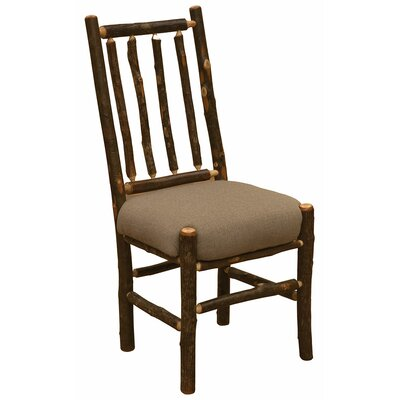 Simply Hickory Bistro Genuine Leather Upholstered Dining Chair Color: Black