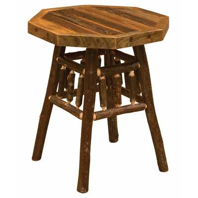 Hickory Teton End Table Color: Barnwood Artisan