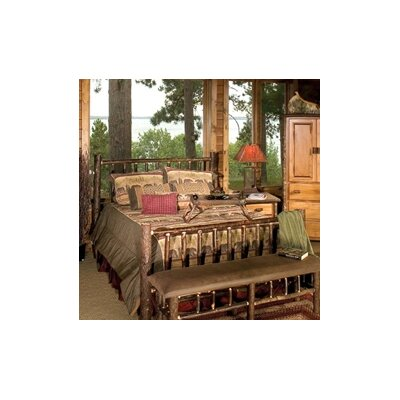 Hickory Panel Bed Size: King, Color: Rustic Alder