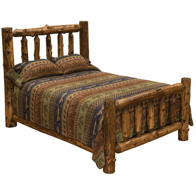 Traditional Cedar Log Slat Bed Size: Full, Finish: Vintage Finish