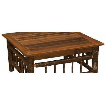 Hickory Coffee Table Size: 18 H x 40 W x 20 D