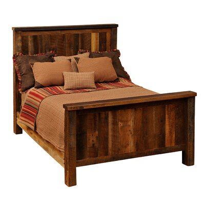 Reclaimed Barnwood Platform Bed Size: Full