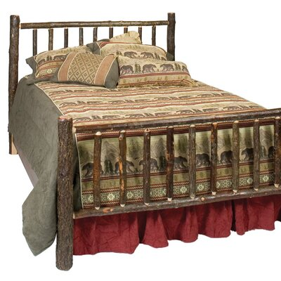 Easy furniture financing Hickory Log Slat Bed Size: Queen, F...