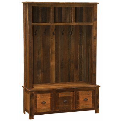 Barnwood Entry Locker Unit Hall Tree Color: Hickory