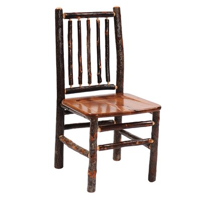 Hickory Spoke Back Side Chair Finish: Rustic Alder
