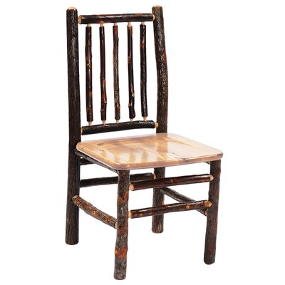 Hickory Spoke Back Side Chair Color: Hickory Seat