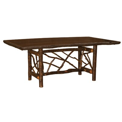 Hickory Twig Log Dining Table Color: Espresso